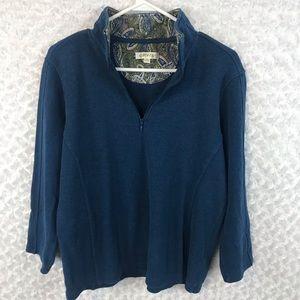 Orvis Blue 1/4 Zip Pullover Sweater size Medium